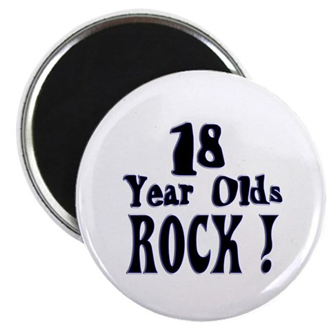 18 Year Olds Rock   Birthday 2.25 Magnet 10 pack by CafePress
