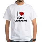 I Love Being Charming Digitial Design T-Shirt