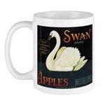 Swan Fruit Crate Label Mug