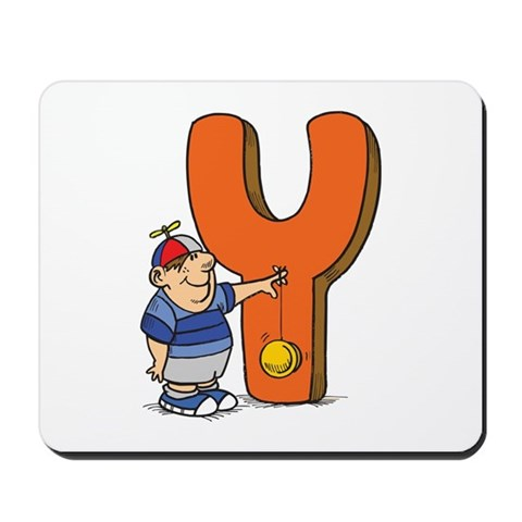Y For Yoyo Cute Mousepad by CafePress