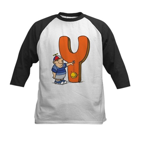 Y For Yoyo Cute Kids Baseball Jersey by CafePress