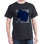 navy blue white lace T-Shirt