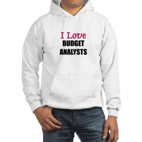 I Love BUDGET ANALYSTS T143 Hooded Sweatshirt by CafePress