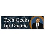 Tech Geeks for Barack Obama sticker
