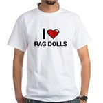 I Love Rag Dolls Digital Design T-Shirt