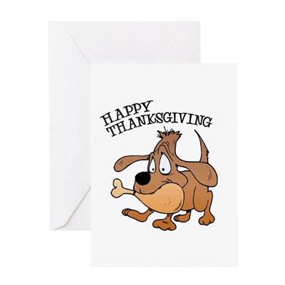 Happy Thanksgiving Dog Greeting Card