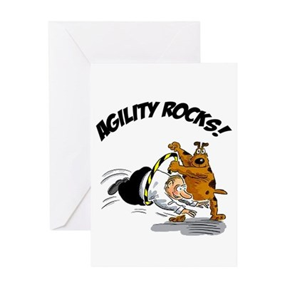 Agility Rocks Greeting Card