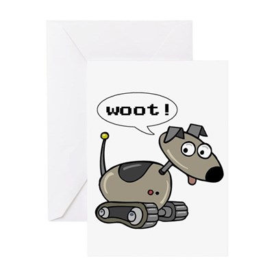 Robot Dog Greeting Card