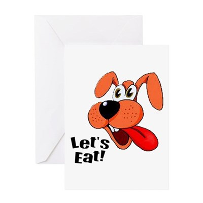 Hungry Dog Greeting Card