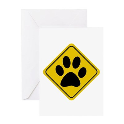 Dog Crossing Sign Greeting Card