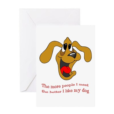 People vs. Dog Greeting Card