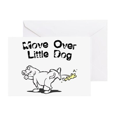 Move Over Little Dog Greeting Card