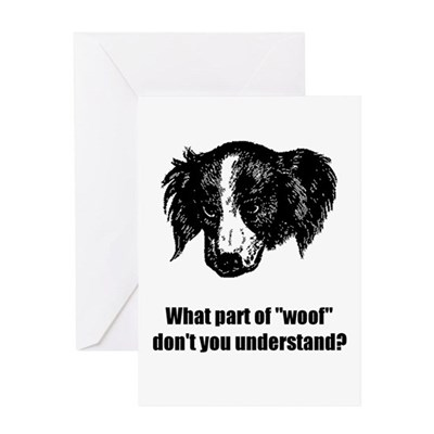 Rude Dog Cartoon Greeting Card