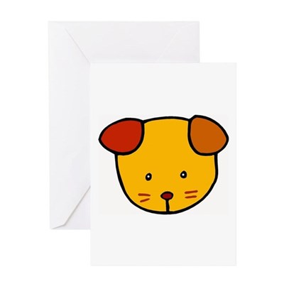 Cute Puppy Cartoon Greeting Card