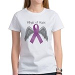 Wings of Hope in Purple Women's T-Shirt