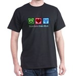 Peace Love Cross Stitch T-Shirt