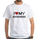 I Love My Autocross Digital Retro Design T-Shirt