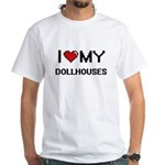 I Love My Dollhouses Digital Retro Design T-Shirt