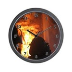 Fire Flame Flashover Wall Clock. Personalized firefighter clocks are great gifts for the firefighter in your life! Click to see more.......