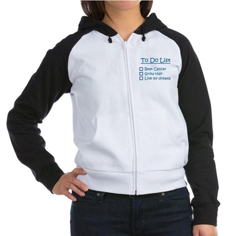 10 net profit donated to cancer research Women's Health Women's Raglan Hoodie by CafePress