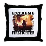 Extreme firefighters deserve pillows to throw on their couches, chairs and bed with firefighting flames, fire and matching home decor.