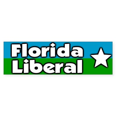 Florida Liberal Bumper Sticker