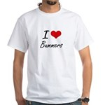 I Love Bummers Artistic Design T-Shirt