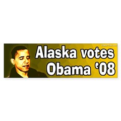 Alaska Votes Obama '08 bumper sticker