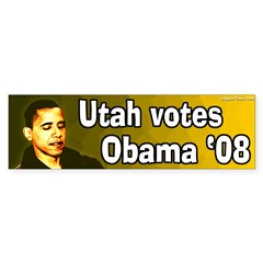 Utah Votes Obama '08 bumper sticker