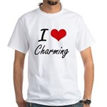 I love Charming Artistic Design T-Shirt