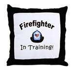 Firefighter In Training Throw Pillows, future firefighter and property of a firefighter's baby pillows are great gift ideas and keepsakes.  Browse our throw pillows, t-shirts and baby gifts here.......