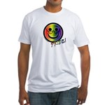 Gay Pride Smiley | Elder Gay & Gray T-shirt