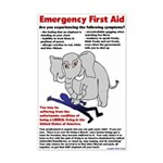 11x17 Liberal First Aid Poster