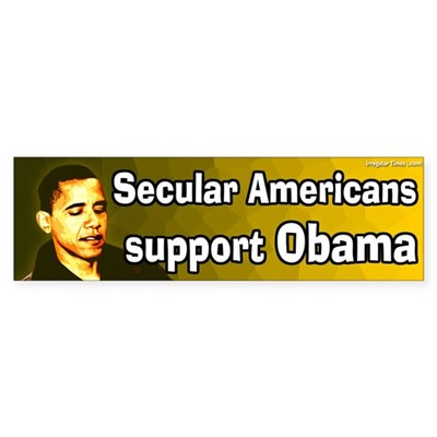 Secular Americans support Obama sticker