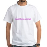 Recycling Officer Pink Flower Design T-Shirt