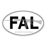 FN-FAL oval sticker
