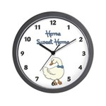 "Wall clocks with country style ""Home Sweet Home"" designs perfect for kitchens and family room"