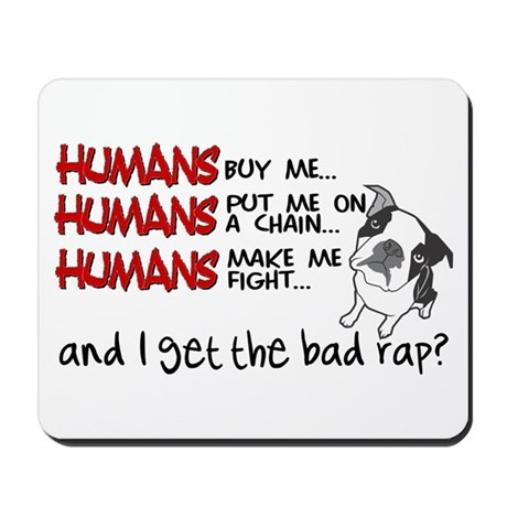 Humans Did It. Blame. Mousepad