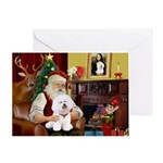 SANTA AT HOME& Bichon Frise #1
