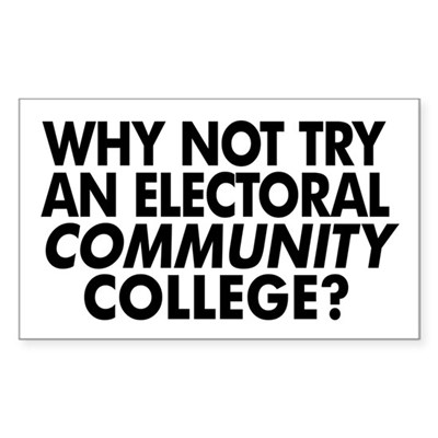 Electoral Community College Sticker