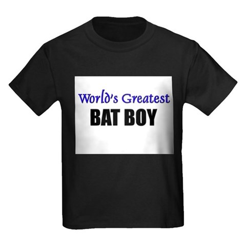 Worlds Greatest BAT BOY T143 Kids Dark T-Shirt by CafePress