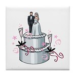 Wedding Cake Tile Coaster