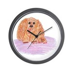 Buddy The Cocker Spainel Dog Wall Clock
