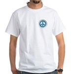 Carved Marble Peace White T-Shirt