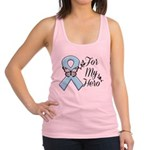 Prostate Cancer For My Hero Racerback Tank Top