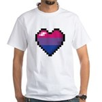 Bisexual Pixel Heart T-Shirt
