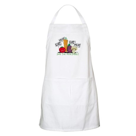 Save The Veggies! BBQ Apron