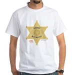 Sheriff Badge White T-Shirt