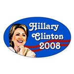 Hillary Clinton 2008 Oval Bumper Sticker