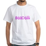 Beader Pink Flower Design T-Shirt